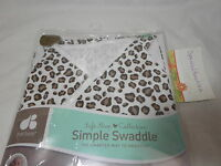 Just Born Cotton Simple Swaddle Chocolate Brown Leopard Print 0-6 Months