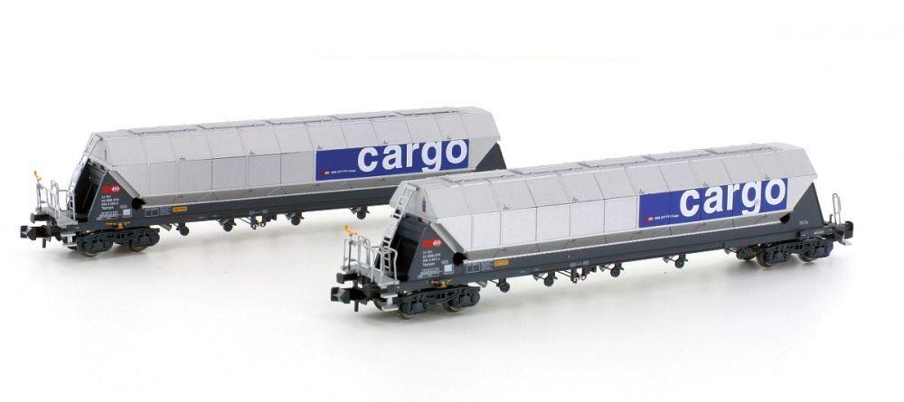 Hobbytrain N 23468 2er Set SBB Tagnppss Silowagen Kakao Transport Ep.V Neuware