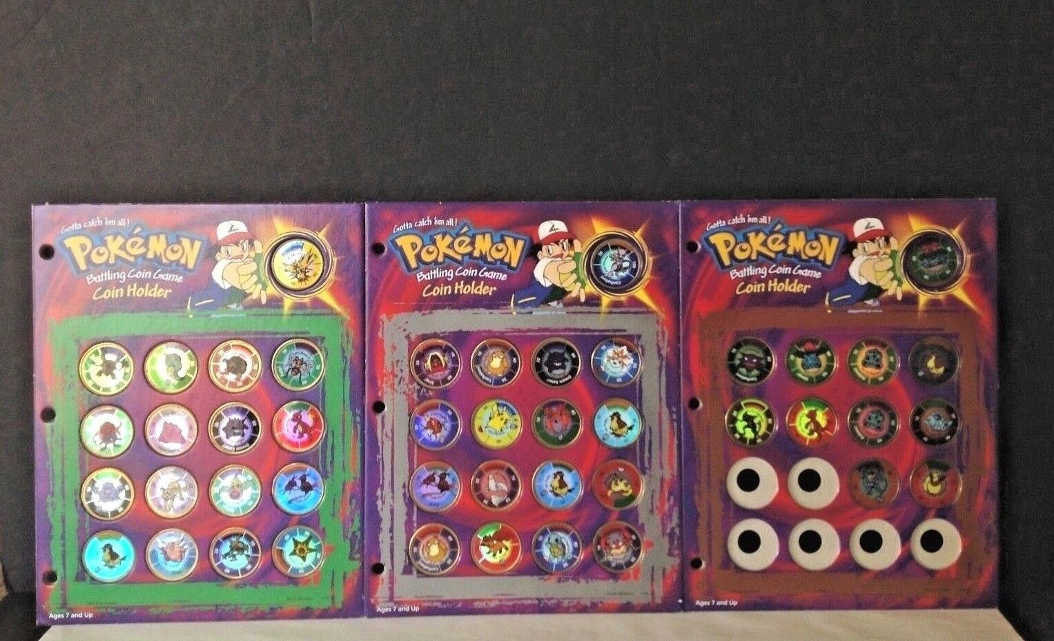 Vintage 1999 Mixed Lot of 45 Pokemon Battling Brass Coins Game