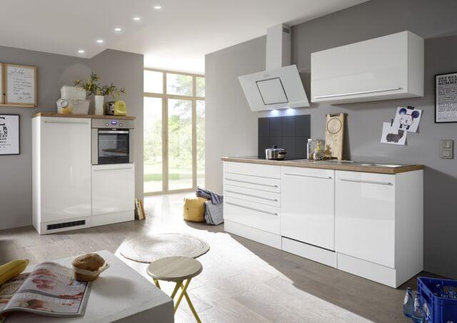 Hervorragend Küche Küchenzeile Küchenblock Einbauküche Komplettküche Weiß 320 Cm Respekta