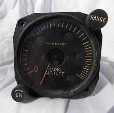 WW 2  USN USMC TBM-3 Avenger Torpedo Bomber Radio Altitude Gauge Instrument