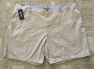 CHAPS Big Mens Size 44B Hudson Tan Casual Shorts 100% Cotton Flat Front