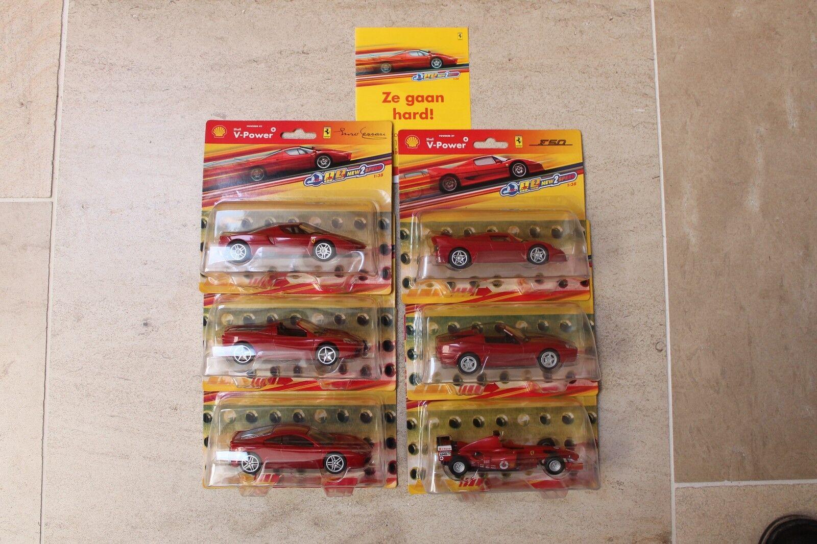 SHELL V-POWER 2007 scale 1 36-38 6 FERRARI  voiture model série complète voiture auto  grande vente