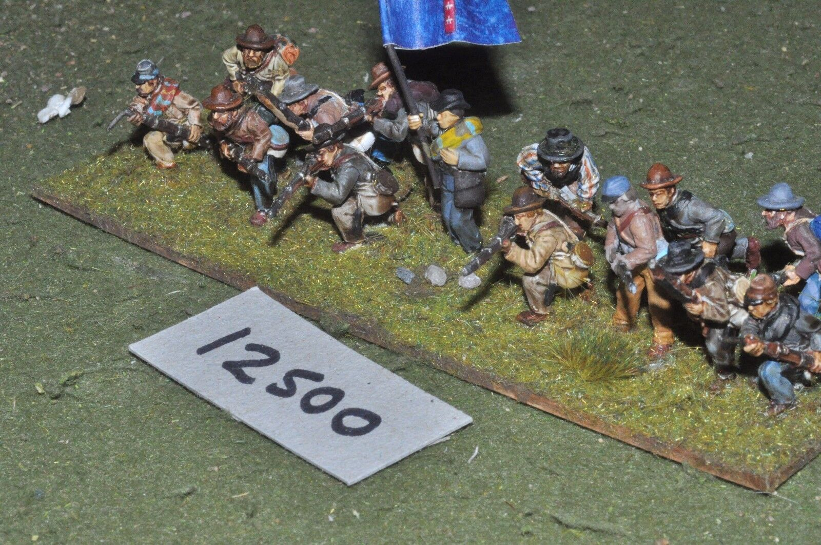 25mm ACW   confederate - american civil war infantry 14 figures - inf (12500)