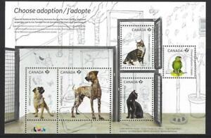 """Kanada 2013 """" Adopt Ein Haustier """" . Miniatur Blatt Nicht Gefaßt Postfrisch, MNH"""
