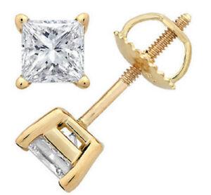 Diamantohrstecker-0-60-Karat-aus-585-14K-Gold-F-G-SI1-Zertifiziert