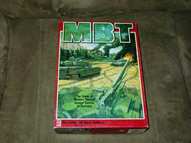 Avalon Hill Ah-MBT-MODERN TACTICAL Ground combat en Allemagne jeu (poinçonné)