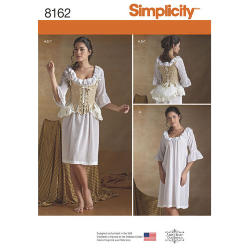 NEW SIMPLICITY 8162 OUTLANDER UNDERGARMENTS PATTERN Misses/' 18th Century