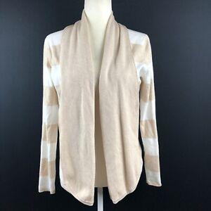 Cyrus-Women-039-s-Size-Medium-Striped-Open-Drape-Cardigan-Sweater