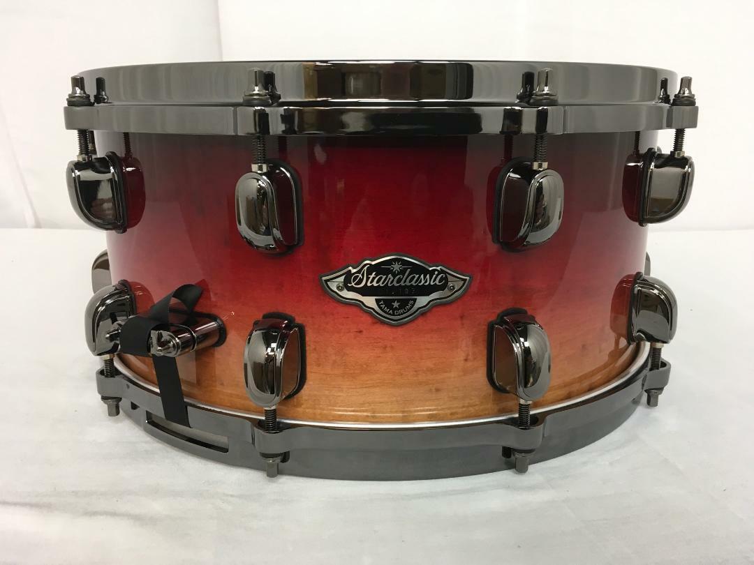 Tama Starclassic Birch Bubinga 14  X 6.5  Snare Drum Figurot Ruby Fade NEW