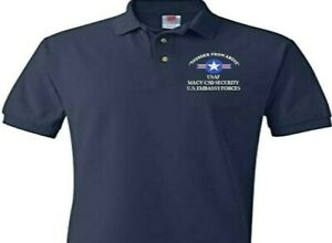 MACV CSD SECURITY U.S. EMBASSY FORCES*EMBROIDERED POLO SHIRT/SWEAT/JACKET.