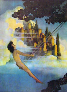 Are maxfield parrish swinging girl share your