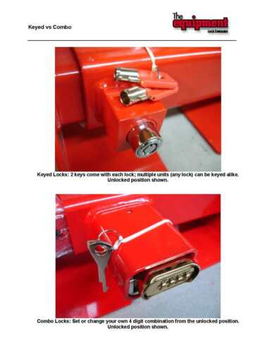Landing Gear Leg Lock Combo for semi trailer truck security trucker 18 wheeler