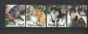 2002-Pitcairn-Islands-Cats-SG-618-21-Set-of-Four-MUH