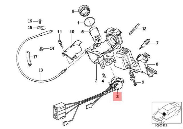 collectivedata.com BMW E36 Cabrio Compact Coupe Ignition Lock ...