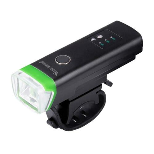 WEST BIKING Bicycle Light USB Rechargeable Light Sensor Flashlight Headlamp L/&6