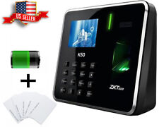 Zkteco Fingerprint K50 Time Attendance Biometric With Battery Employer Clock Zk