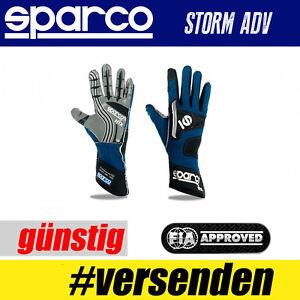 FIA-SPARCO-Handschuh-STORM-ADV-Blau-Professionelle-Handschuhe-HIT-TOP
