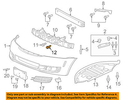 GM OEM-Fender Liner Retainer Clip 11519949