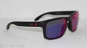 dafdc3a248 Oakley Sunglasses HOLBROOK 9102-36 55 MATTE BLACK   RED IRIDIUM ...
