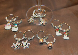 Set-of-10-Handmade-Christmas-Design-Wine-Glass-Charms-Markers-Table-Decorations