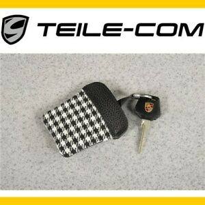 NEU-ORIG-Porsche-Classic-911-F-G-PEPITA-ETUI-mit-Porschewappen-fuer-Schluessel