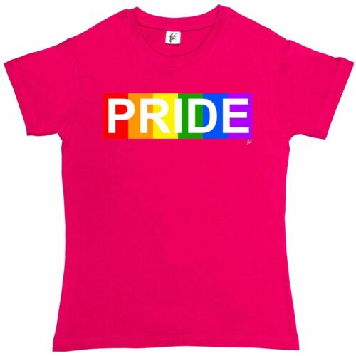 Rainbow Block /& Pride Womens Boyfriend Fit T-Shirt