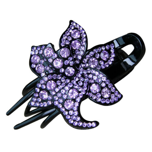 Women's Crystal Hair Claw Rhinestone Hairclip Jewelry Flower Fashion Hairpin