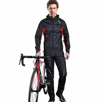 SOBIKE Cycling Thermal Jacket Bike Suits Wind Rainproof Coat Thermal Breath Pant