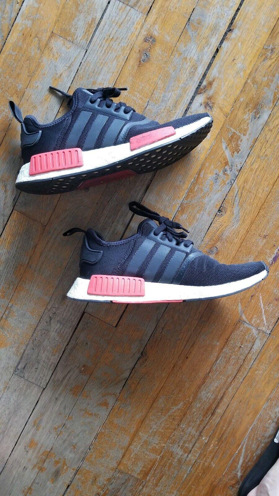 Adidas nmd r1 men og mesh black red