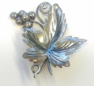 Taxco-925-Sterling-Silver-Brooch-signed-DAMASO-GALLEGOS