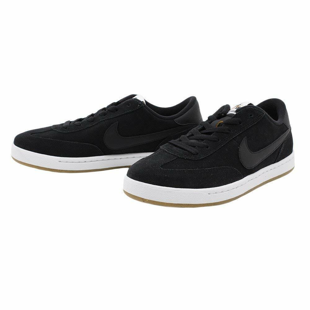 Men Nike SB FC Classic Suede 909096 001 Black White orange 100% Authentic New