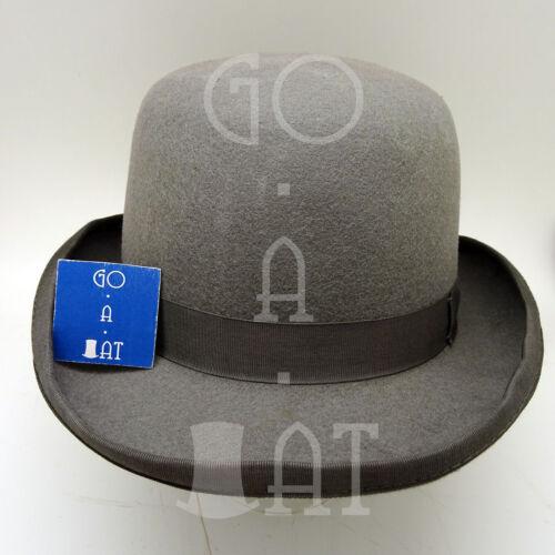 VINTAGE Wool Felt Dura Bowler Top Hat Men Women Derby3 sizesBlack Brown