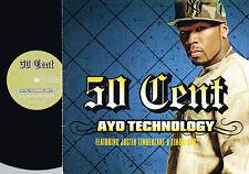 50 CENT Ayo Technology PROMO VINYL Czech Pressing TIMBERLAKE Timbaland CURTIS4