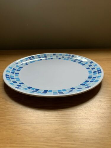 Quest Leisure Blue Square Melamine Camping Large Plate Tableware