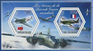 Tchad Avion Seconde Guerre Mondiale Larotchkine Morane Souvenir Feuille De 2 Timbres Neuf Sans Charnière-afficher Le Titre D'origine 50% De RéDuction