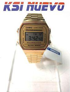 Detalles A168wg Casio Retro De 9ef Dorado Reloj Modelo LASc54j3Rq