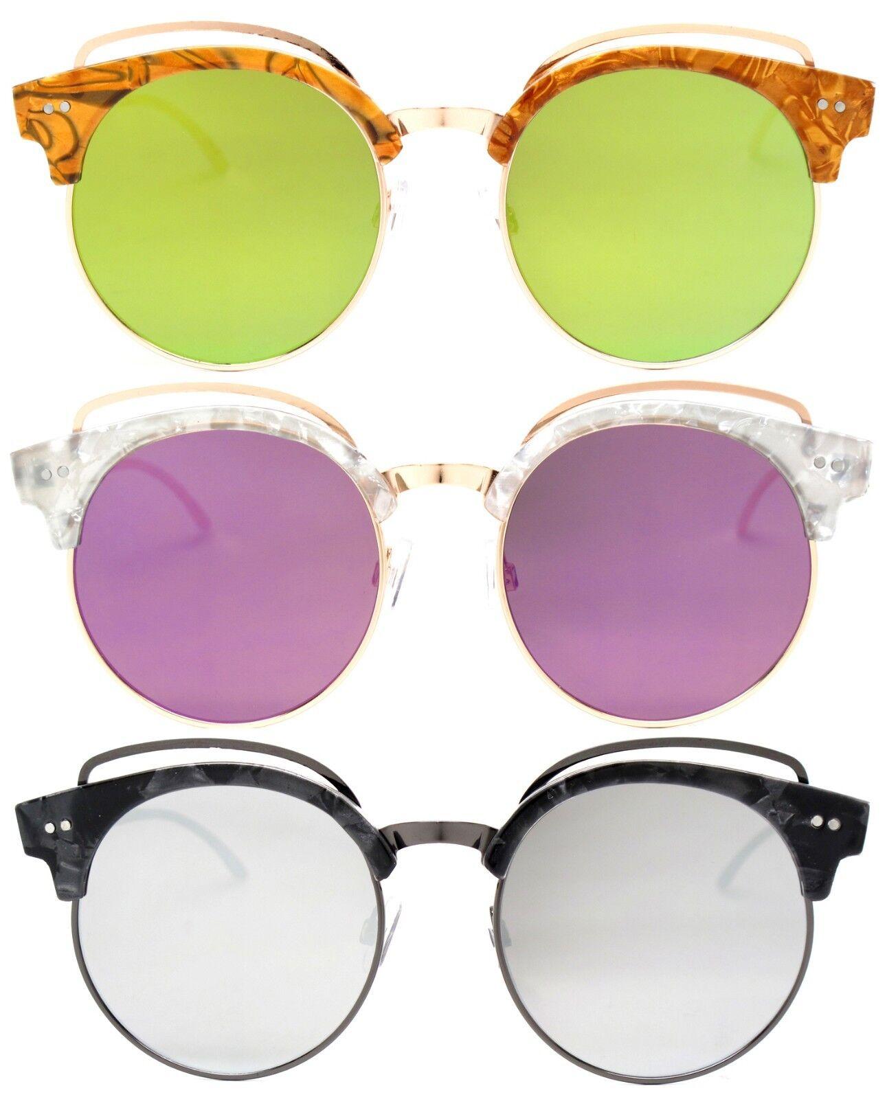 Vintage Retro Men Women Round Frame Sunglasses Glasses Eyewear