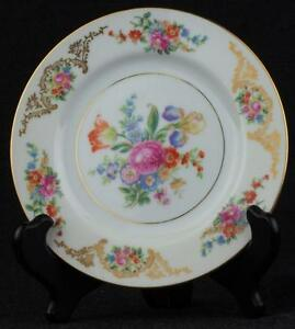 """Aichi China Dresden Flowers 1940s Bread & Butter Plate(s) 6"""" Excellent MIJ"""
