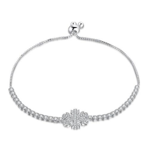 925 Sterling Silver Plated Cuff Bracelet Bangle Chain Wristband Women Jewelry