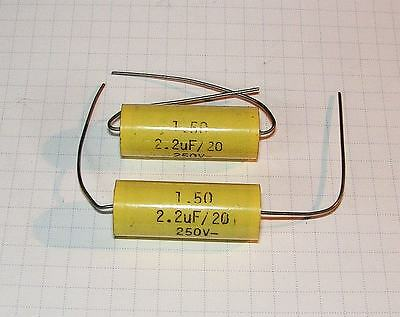 2.2uF250V 12x32mm Axial Film Capacitor 1.50MKT 20/% LOT-4pcs