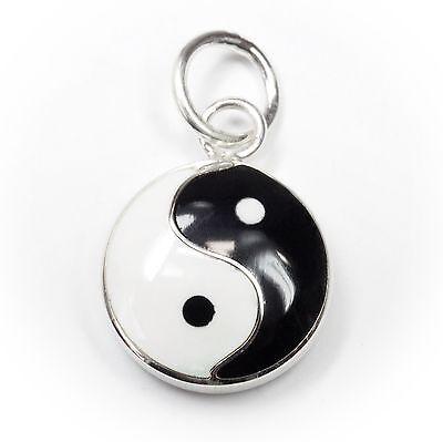 Angemessen Neu 925 Silber AnhÄnger Yin & Yang Schwarz/weiß KettenanhÄnger Yīn Yáng Produkte HeißEr Verkauf