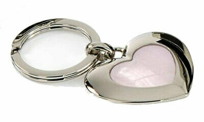 Rigoroso Mother Of Pearl Love Heart Keyring In Gift Pouch Quell Summer Thirst