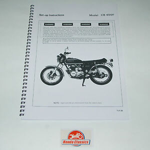 honda set up manual book cb400f 400 4 400 four 1970s reproduction rh ebay ie honda 400 four workshop manual download honda 400 four workshop manual