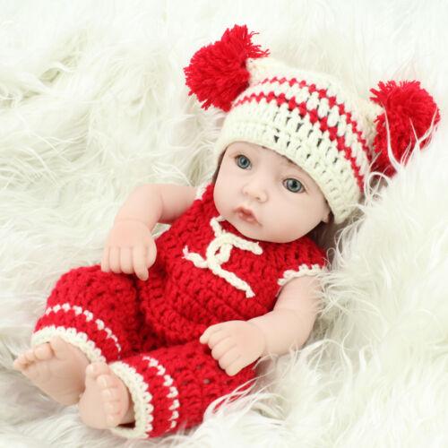 "10/"" Reborn Babies Full Vinyl Silicone Newborn Handmade Lifelike Baby Girl Dolls"