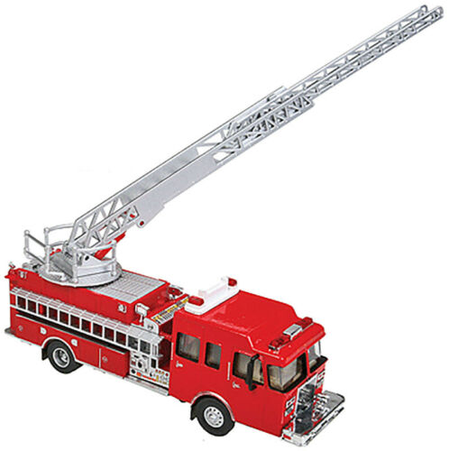 Walthers HO Scale Heavy-Duty Fire Department Ladder Truck Red Emergency Vehicle