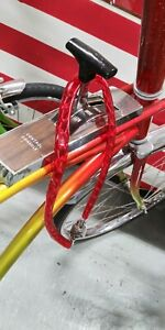 1-New-Muscle-Bike-Chain-Combo-Lock-in-Schwinn-Stingray-Candy-Apple-Red-Colors
