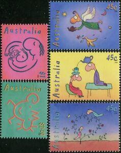 Australia-1998-SG1805-1809-Leunig-The-Teapot-Of-Truth-set-MNH