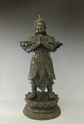 MASSIVE BRONZE FIGURE OF IMMORTAL HEAVENLY GUARDIAN Lot 260