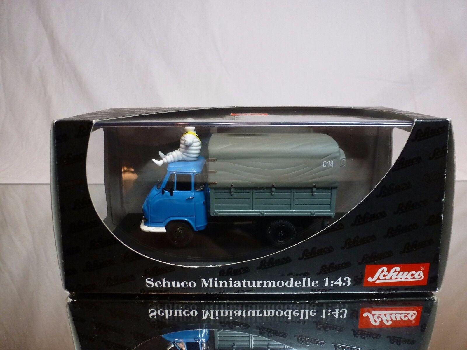 SCHUCO HANOMAG KURIER - PNEU MICHELIN - blå GREEJ 1 43 EXCELLENT IN låda